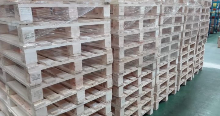 Pallet Kayu ISPM #15 Uk. 120 x 80 x 14 cm Type 4 Way