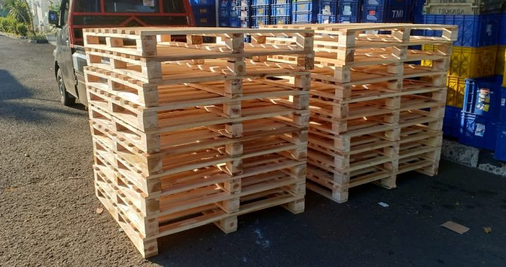 Pallet Kayu ISPM#15 Uk 114 x 114 x 12 cm Type 4 Way